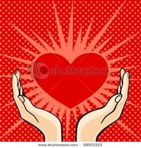 Hand Holding Heart Clip Art