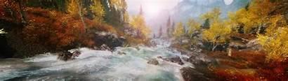 Skyrim Landscape Scrolls Elder Nature Display Multiple