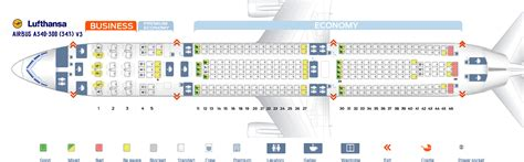 30 Airbus A340 300 Seat Map Maps Database Source