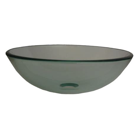 clear glass vessel sinks shop novatto bonificare clear tempered glass vessel round