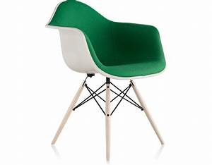 Eames Upholstered Armchair With Dowel Base