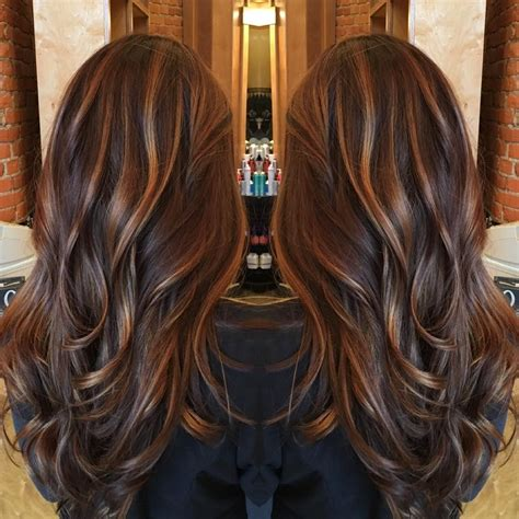 Rich Brown Hair With Caramel Highlights by Caramel Balayage Highlights On A Rich Chocolate Brown Base