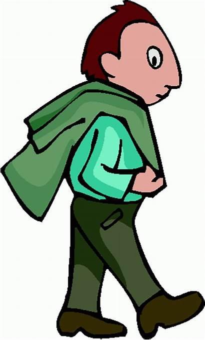 Walking Clipart Clip Person Cartoon Cliparts Guy