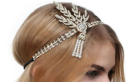 Wedding Accessories For Girls : The Great Gatsby Headband And Flaper Crown Wedding Hair