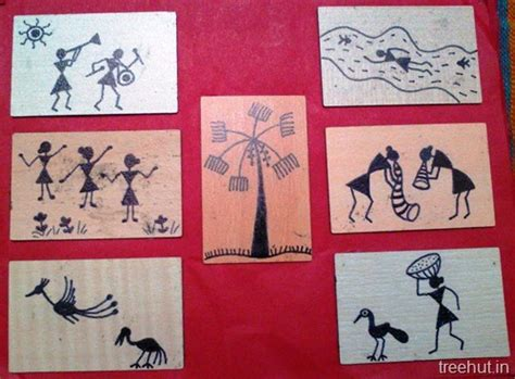 easy warli art  beginners