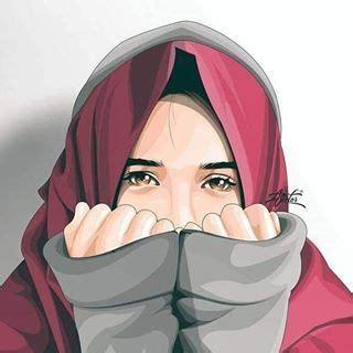 cartoon hijab wallpaper kartun hijab keren penenang hati