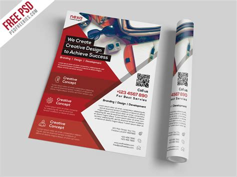 business and corporate flyer template free psd download psd