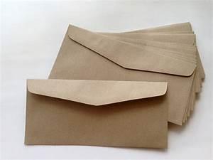 25 brown kraft envelopes long size 108 x 235 cmor 4 1 4 x With brown letter envelopes