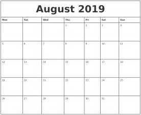 august printable monthly calendar