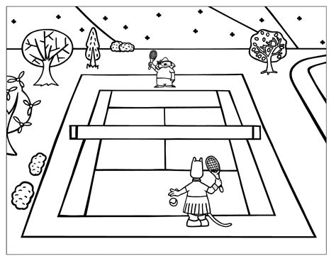 tennis coloring pages  childrens printable
