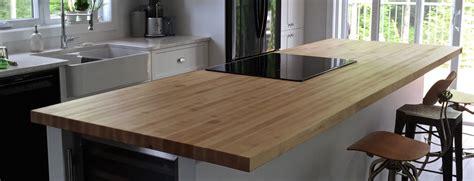 comptoir de la cuisine table comptoir bloc de boucher et ilôt en bois massif