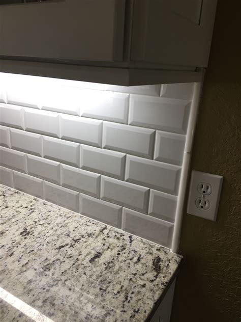 beveled edge subway tile backsplash odessa florida