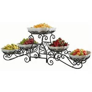 3 tiered stand tiered gourmet server 5 stoneware serving pieces with