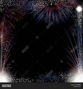 Fireworks Border Vector & Photo | Bigstock