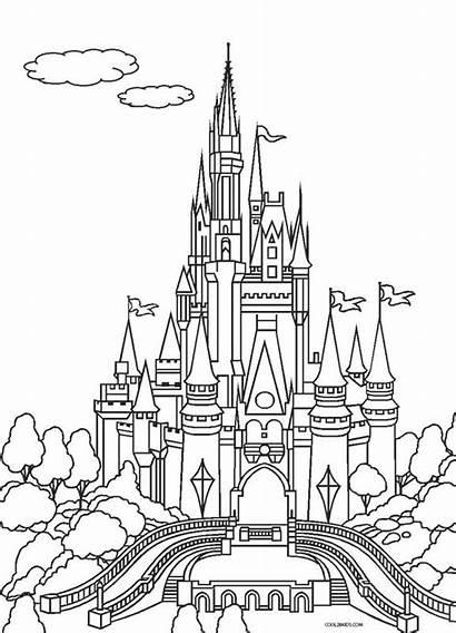 Coloring Cinderella Pages Castle Printable