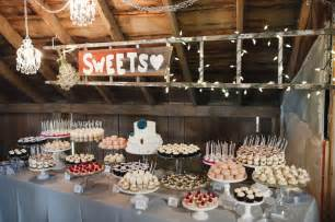 wedding dessert ideas cocoa fig barn wedding mini dessert table and 2 tier cake for allison and