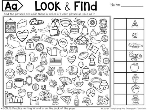 printable hidden puzzles  kids objects worksheets