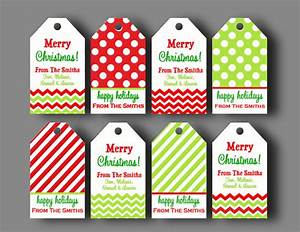 personalized christmas gift tags printable or printed with With free printable customizable gift tags