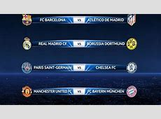 UEFA Champions League quarterfinal draw result UEFA