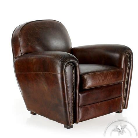 fauteuil club cuir marron havane saulaie