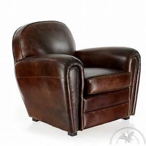 Fauteuil Cuir Marron Vintage : fauteuil cuir marron vintage havane saulaie ~ Teatrodelosmanantiales.com Idées de Décoration