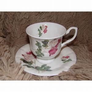 Tasse Et Sous Tasse : tasse et sous tasse th porcelaine chinabones roses royal garden ~ Teatrodelosmanantiales.com Idées de Décoration