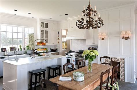 beautiful white kitchen designs 17 kitchen tables with subtle charm 4400