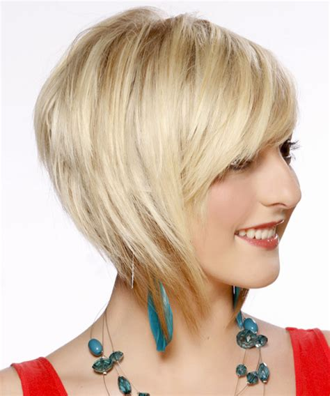 formal short straight layered bob hairstyle  side