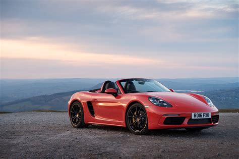 convertible porsche red red car convertible porsche 718 boxster on the background