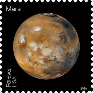 Mars Stamp (part of Views of Our Planets Forever stamp ...