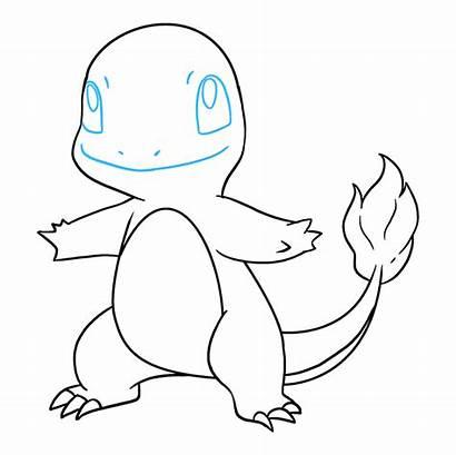 Charmander Draw Drawing Step Pokemon Easy Really