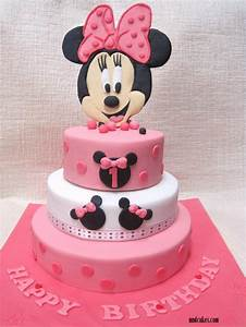 Mom And Daughter Cakes: 3-Tiered Minnie Mouse Cake For 1st ...