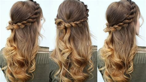 Half Hairstyles by Easy Half Up Half Hair Idea Easy Hairstyles
