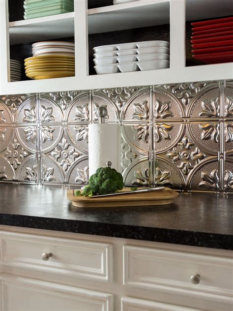 metal tiles for kitchen backsplash how to install a tin tile backsplash how tos diy 9155