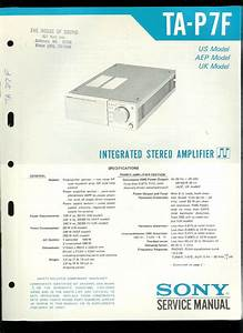 Rare Original Factory Sony Ta P7f Stereo Amplifier Amp