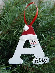 personalized santa letter ornaments With wooden letter ornaments