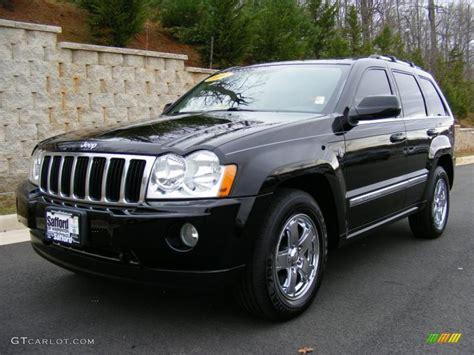 black jeep cherokee 2007 black jeep grand cherokee overland 4x4 27544833