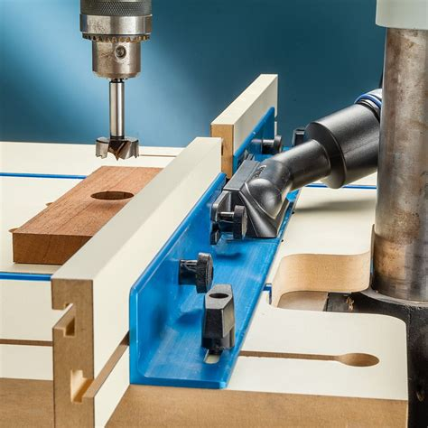 dust port  drill press fence rockler woodworking