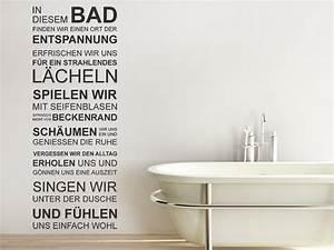 Wandtattoo Wc Sprüche : wandtattoo in diesem bad finden wir entspannung bei ~ Markanthonyermac.com Haus und Dekorationen