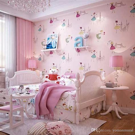 cartoon ballet princess  woven wall paper  kids