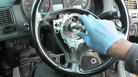 volkswagen golf jetta steering wheel airbag removal