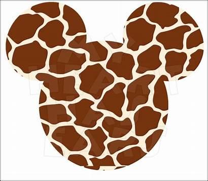 Giraffe Mickey Mouse Clip Ears Head Disney