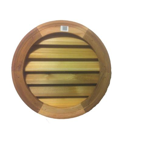attic fan louver cover al 39 s millworks 18 in wood round louver vent v 102 18vcd