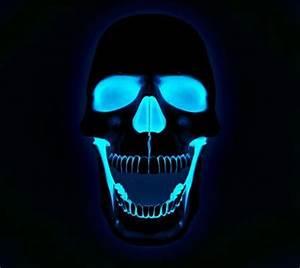 Neon Glow skull Nifty Pinterest