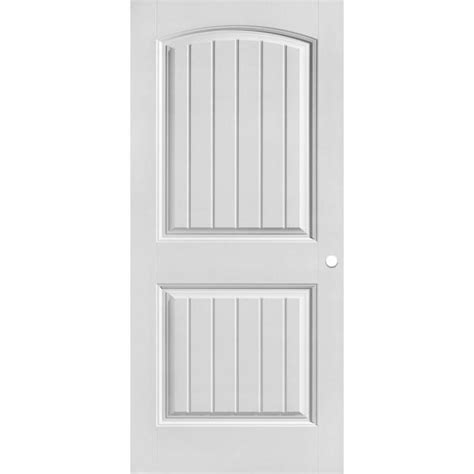 masonite      cheyenne smooth  panel camber top plank hollow core primed composite