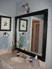 frame a mirror Top 10 Lovely DIY Bathroom Decor and Storage Ideas - Top Inspired