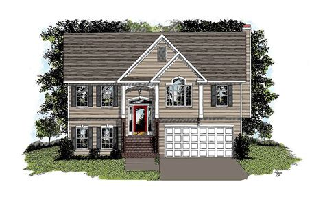 Traditional Split-level Home Plan