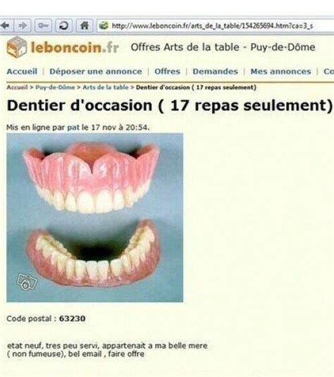 cuisine d occasion sur le bon coin photo un dentier presque neuf ça ne vous tente pas le