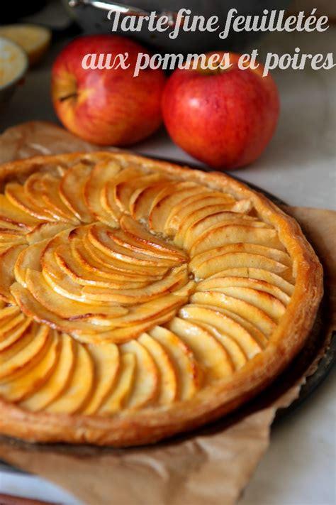 tarte feuillet 233 e aux pommes poires ultra simple mais d 233 licieuse rdv aux mignardises