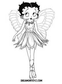 Betty Boop Angel Coloring Pages
